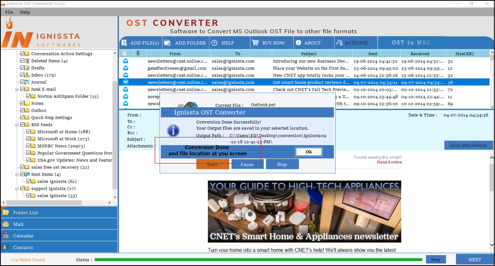 Successfully Completed OST to MBOX Conversion