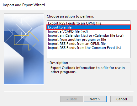 Export to a File Option
