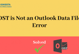 OST is Not an Outlook Data File Error
