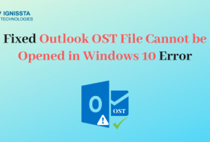 Outlook OST File Cannot be Opened Windows 10